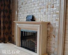 瑞达石材应用-壁炉