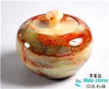 天然玉石:苹果盅