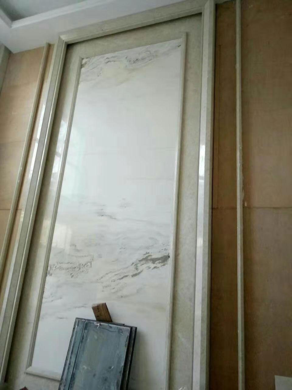 中式窗套线+山水画