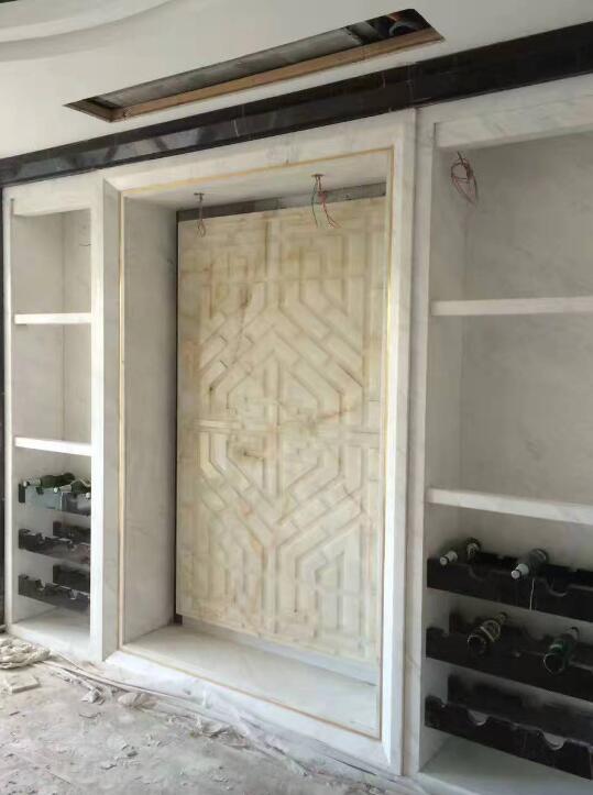 中式窗套线+回型雕刻
