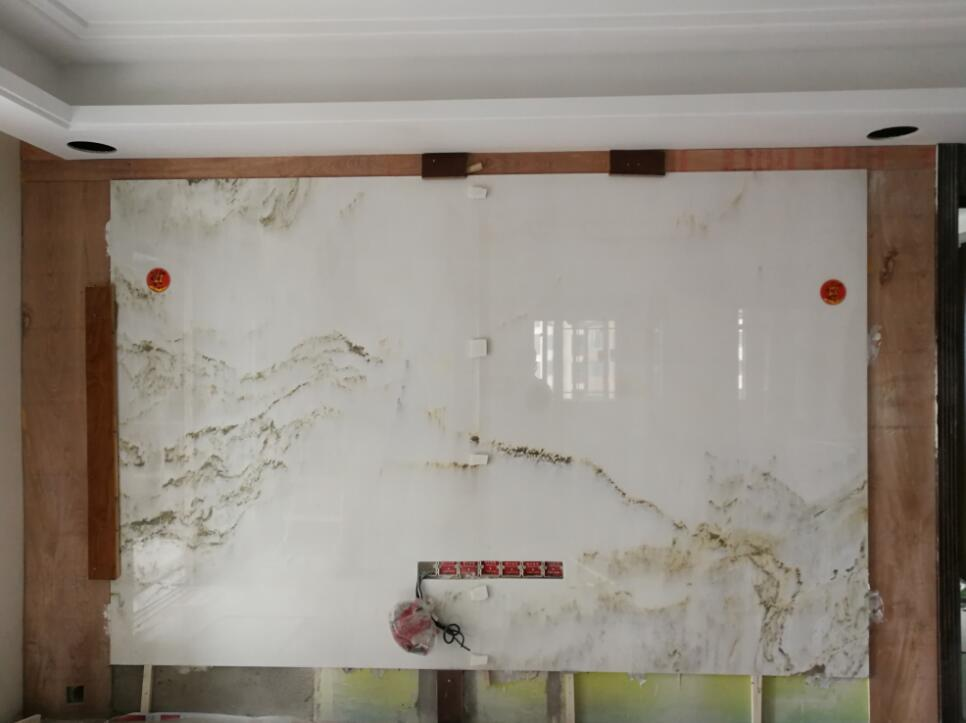 江湾国际山水画背景墙